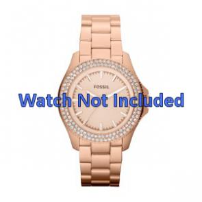 Uhrenarmband Fossil AM4454 Stahl Rosé 18mm