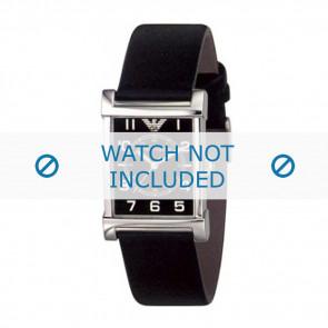 Armani Uhrenarmband AR-0209XL Leder Schwarz 20mm