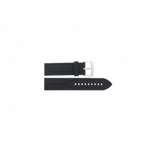 Armani Uhrenarmband AR0527 Vanille / AR0532 / AR0559 / AR5826 Silikon Schwarz 23mm