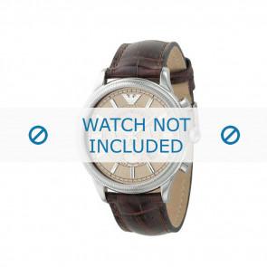 Armani Uhrenarmband AR0562 Leder Braun 21mm + braunen nähte