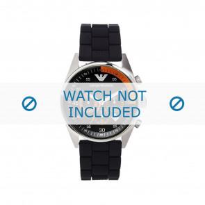 Armani Uhrenarmband AR5878 Silikon Schwarz 24mm