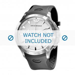 Armani Uhrenarmband AR0634 Silikon Schwarz