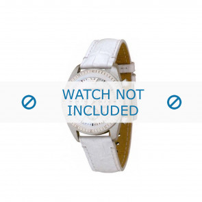 Armani Uhrenarmband AR-5664 Leder Weiß 20mm