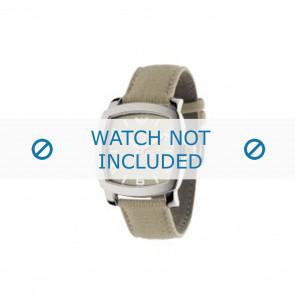 Armani Uhrenarmband AR-5802 Textil Creme weiß 24mm
