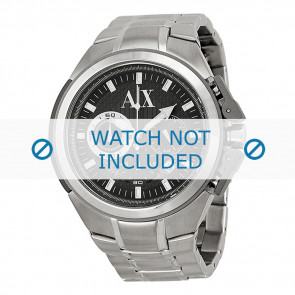 Armani Uhrenarmband AX-1039 Stahl Silber 27mm
