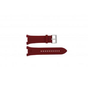 Uhrenarmband Armani AX1040 Silikon Rot 14mm
