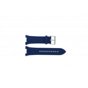 Armani Uhrenarmband AX-1041 Gummi Hellblau 21mm