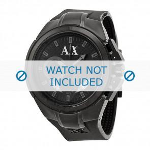 Armani Uhrenarmband AX-1050 Silikon Schwarz 14mm