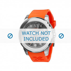 Armani Uhrenarmband AX-1073 Gummi Orange