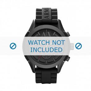 Armani Uhrenarmband AX-1212 Silikon Schwarz 22mm