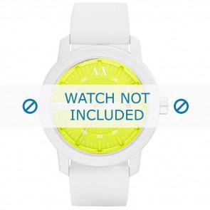 Armani Uhrenarmband AX-1241 Silikon Weiß 22mm