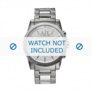Armani Uhrenarmband AX-2058 Stahl Silber 22mm