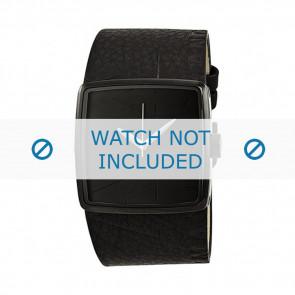 Armani Uhrenarmband AX-6002 Leder Schwarz 35mm