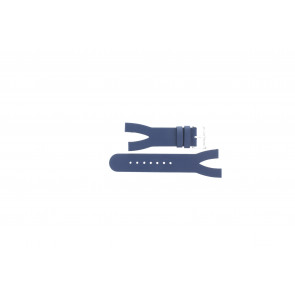 Uhrenarmband Davis BB1403 Leder Blau 10mm
