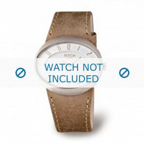 Boccia Uhrenarmband 3165.01 Leder Braun 26mm + braunen nähte