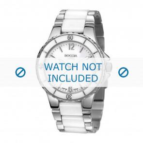 Boccia Uhrenarmband 3215.01  Keramik Weiss