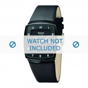 Boccia Uhrenarmband 3541.03 Leder Schwarz