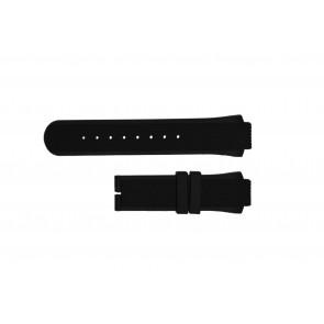 Breil Uhrenarmband TW0450 / TW0455 Kautschuk Schwarz 16mm