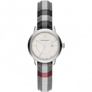 Uhrenarmband  BU10103 Leder/Textil Grau 14mm