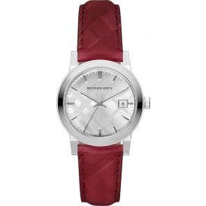 Uhrenarmband Burberry bu9152 Leder Rot