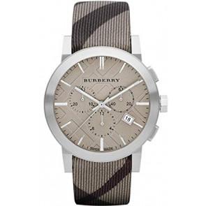 Uhrenarmband Burberry BU9358 / 7177852 Leder Mehrfarbig 20mm