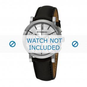 Burberry Uhrenarmband BU1361 Leder Schwarz 20mm + schwarzen nähte