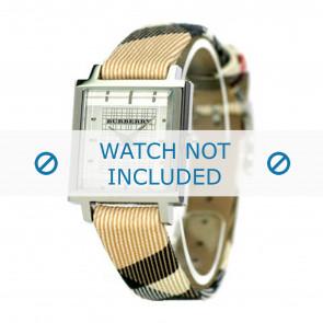 Burberry Uhrenarmband BU2016 Leder Cremeweiß / Beige