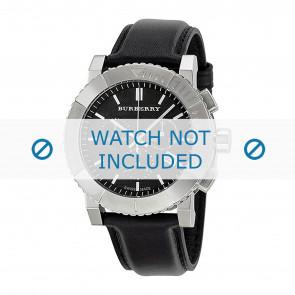 Burberry Uhrenarmband BU2306 Leder Schwarz 22mm + schwarzen nähte