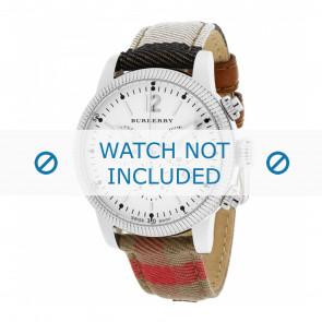 Burberry Uhrenarmband BU7820 Leder Cremeweiß / Beige + standardnähte
