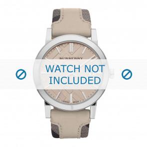 Burberry Uhrenarmband BU9021 Leder Cremeweiß / Beige 20mm