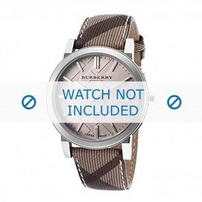 Burberry Uhrenarmband BU9029 Leder Cremeweiß / Beige