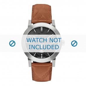 Burberry Uhrenarmband BU9905 Leder Braun + braunen nähte