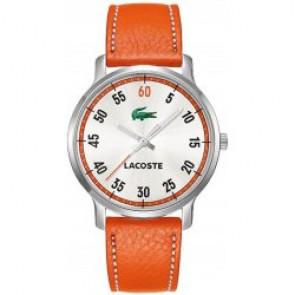 Uhrenarmband Lacoste 2000568 / LC-41-3-14-2199 Leder Orange 20mm