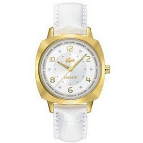 Uhrenarmband Lacoste 2000604 / LC-47-3-34-2234 Leder Weiss 18mm