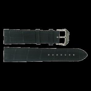 Certina Uhrenarmband C600015907 21/18MM Leder Schwarz 21mm + schwarzen nähte