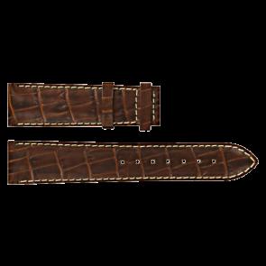 Certina Uhrenarmband C610007728 / C61040201 / C536.7029.42.69 Leder Braun 20mm + weiße nähte