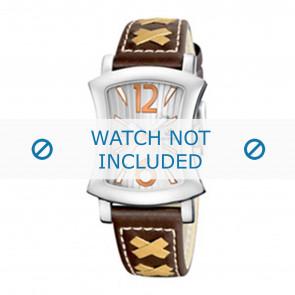 Calypso Uhrenarmband K5198-2 Leder Braun 17mm + weiße nähte