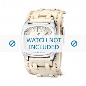 Calypso Uhrenarmband K5224/1 Leder Weiss 26mm
