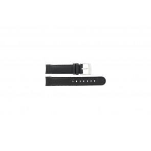 Camel Uhrenarmband 4040-4059 Carbon Schwarz 18mm + schwarzen Nähten