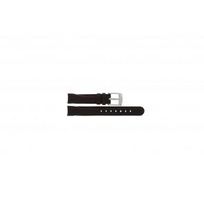 Camel Uhrenarmband 4000-4009 Leder Dunkelbraun 14mm + braunen Nähten
