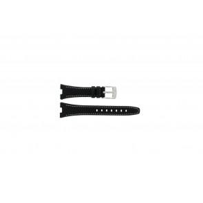 Camel Uhrenarmband 6000-6007 Leder Schwarz 22mm + weisßen Nähten