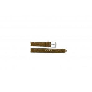 Camel Uhrenarmband 5100-5109 Leder Hellbraun 14mm + weisßen Nähten