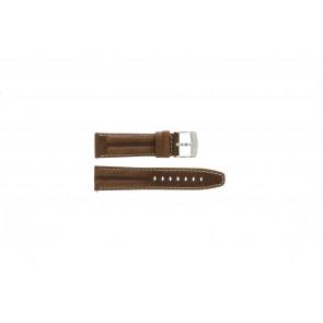 Camel Uhrenarmband 6720-6729 / 6760-6769 Leder Braun 22mm + weisßen Nähten
