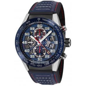 Uhrenarmband Tag Heuer CAR2A1N / FT6100 / BT6133 Leder Blau 22mm