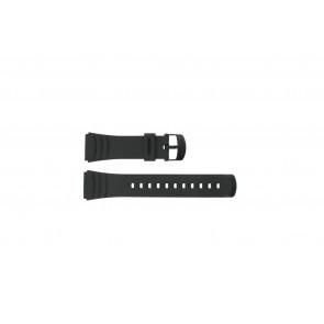 Casio Uhrenarmband DBC-32C-1BW Gummi Schwarz 22mm