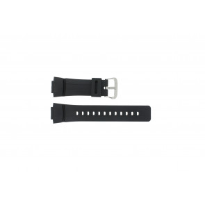 Casio Uhrenarmband G-100-1BV Silikon Schwarz 16mm
