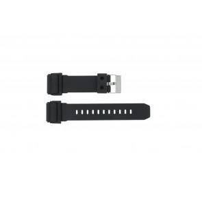 Uhrenarmband GD-400-1W / 10475776 Silikon Schwarz 26mm
