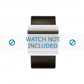 Calvin Klein Uhrenarmband K52211.04 / K600058403 Leder Schwarz