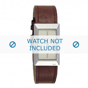 Dolce & Gabbana Uhrenarmband 3719040028 Leder Braun + braunen nähte