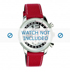 Dolce & Gabbana Uhrenarmband 3719740276 Leder Rot + weiße nähte